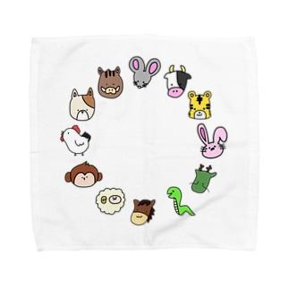 十二支 干支 Towel handkerchiefs