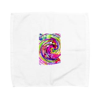 スパイラル レインボー Towel handkerchiefs