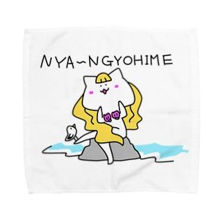 にゃ~んぎょひめ[生足] Towel handkerchiefs