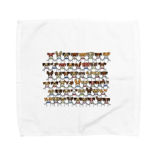 ジャックラッセルテリアのトトwithフレンズ Towel handkerchiefs