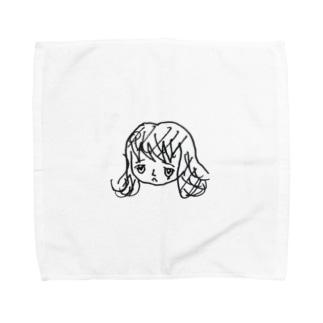 母が書いた中谷 Towel handkerchiefs