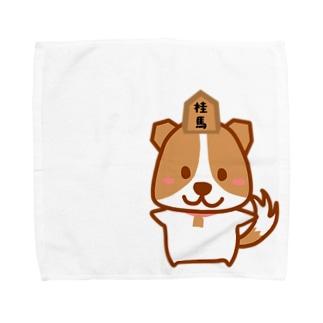 将棋大好きこまわんモチーフ Towel handkerchiefs