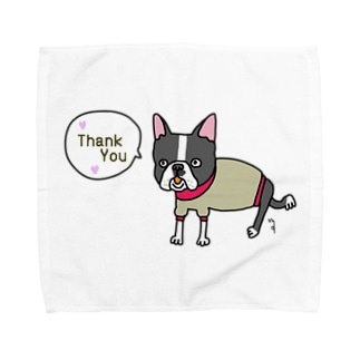maroco's roomのthank you dog Towel handkerchiefs
