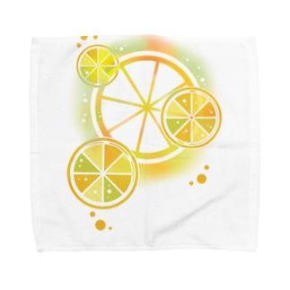 フレッシュオレンジ Towel handkerchiefs