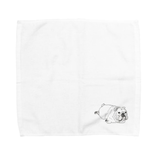 OGNdesignの犬 ブルドッグ  NO.7 Towel handkerchiefs