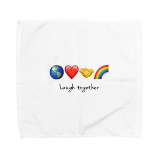 Laugh together 2 Towel handkerchiefs