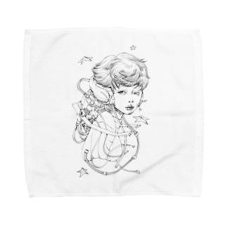 retro future 2 Towel handkerchiefs