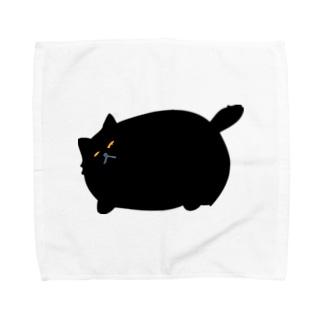 ニャポハウスショップ の黒猫ニャポポさん Towel handkerchiefs