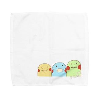 yuuオリジナルイラスト7 ポコちゃん三兄弟 Towel handkerchiefs