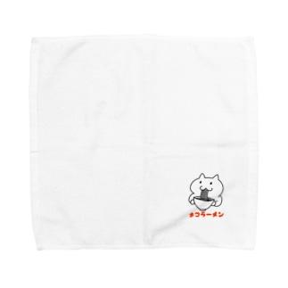 ネコラーメン クリア Towel handkerchiefs