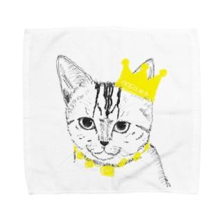 猫の王様 Towel handkerchiefs