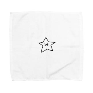biepo studio のゆるいスター Towel handkerchiefs