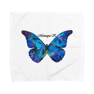 めいいっぱいばたふらい Towel handkerchiefs