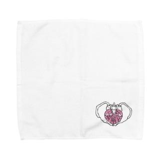 OGNdesignの骨盤 骨 骨盤底筋群 内臓 NO.23 Towel handkerchiefs