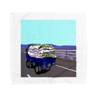 バナナトラック Towel handkerchiefs