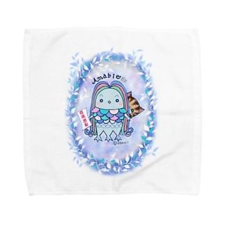 のほほんアマビエちゃん Towel handkerchiefs