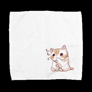 タオル ネコねこ たおにゃんのmogumoguたおにゃん Towel handkerchiefs