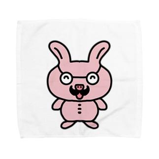 おじさんウサギ Towel handkerchiefs