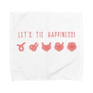 梅結びの結び方 Towel handkerchiefs