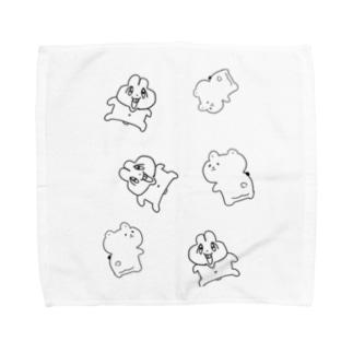 前歯🐰とプリケツ🧸 Towel handkerchiefs