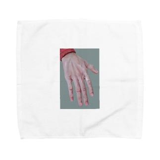 手の甲 Towel handkerchiefs