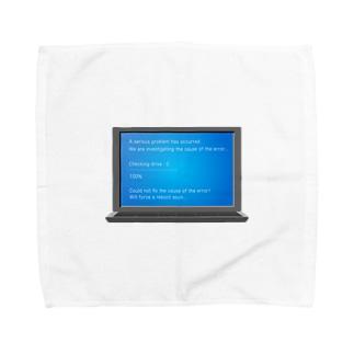 illust_designs_labの 架空のブルースクリーンエラー画面のイラスト Towel handkerchiefs