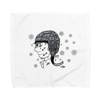 ラグビー選手のまなざし Towel handkerchiefs