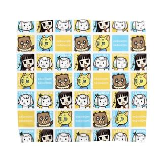 初葉神社の仲間たち Towel handkerchiefs