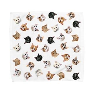 うちの猫ら Towel handkerchiefs