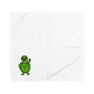 カメのムネムネ Towel handkerchiefs