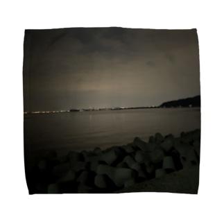 kawachu5の夜景 Towel handkerchiefs