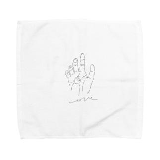 愛の手 Towel handkerchiefs