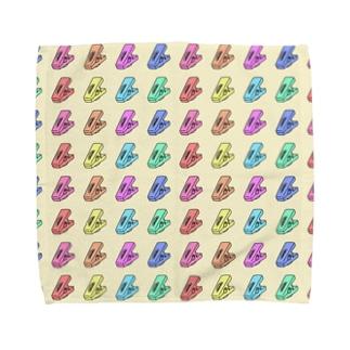 模様(洗濯バサミ) Towel handkerchiefs