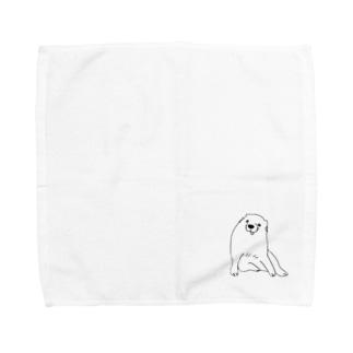 どこかにいたようなワンチャン Towel handkerchiefs