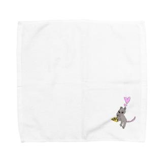 ねずみのちゅっぴー Towel handkerchiefs