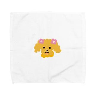 胡実クルミのボサボサもこもこヘアーの犬 Towel handkerchiefs