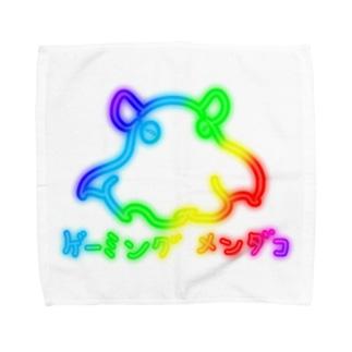 鮫処 祭のゲーミング メンダコ(発光風・黒縁無し) Towel handkerchiefs
