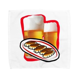 I♡餃子とビール Towel handkerchiefs