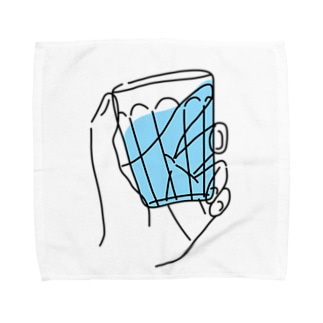 うらめし屋 のグラス もってる Towel handkerchiefs