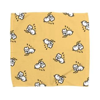 ねむくてそこで寝ちゃう Towel handkerchiefs
