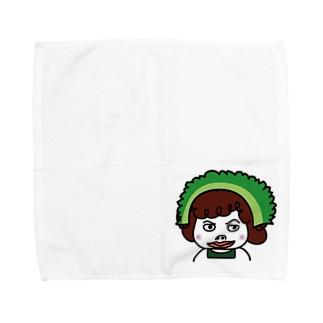 こしかけ荘回覧板・大家まさこがゴーヤまさこに! Towel handkerchiefs
