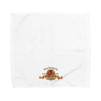 ポポのお店のHinao Sleepng Cat Towel handkerchiefs
