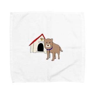 顔が四角い犬🐶 Towel handkerchiefs