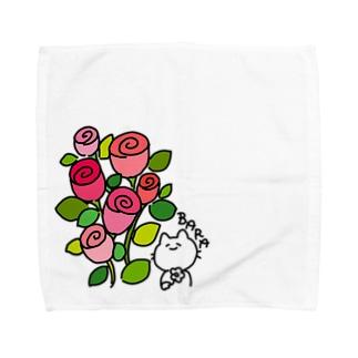 ばらねこ Towel handkerchiefs