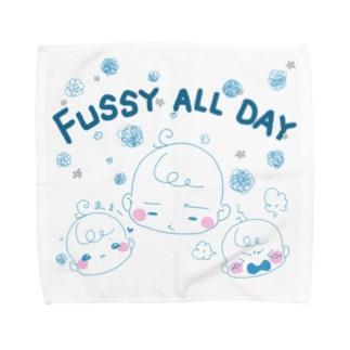 苺ぱんだのぐずぐず★ベイビーブルー Towel handkerchiefs