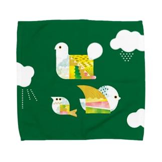 パタパタ 鳥 ハンカチ Towel handkerchiefs