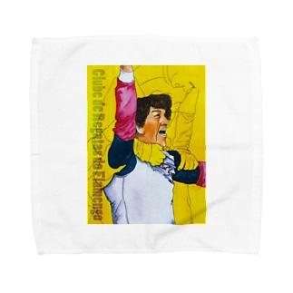 サッカー喜色イラスト 歓喜の水彩画 Towel handkerchiefs
