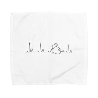心臓 Towel handkerchiefs