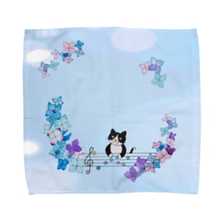 あじさい作り Towel handkerchiefs