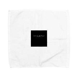 rilybiiのmeow△ △black Towel handkerchiefs